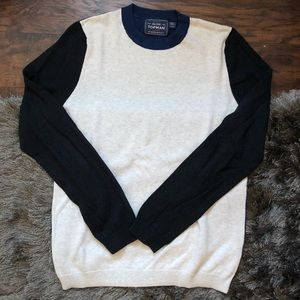 Topman Color Block Crewneck Sweater